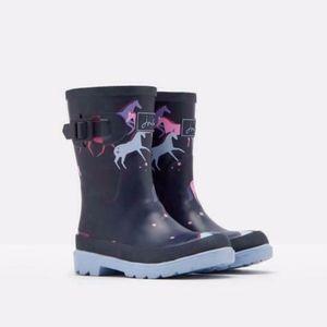 Joules Girls Unicorns Rainboots Rain Boots NWT